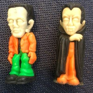 Frankenstein & Dracula Vintage Halloween candles